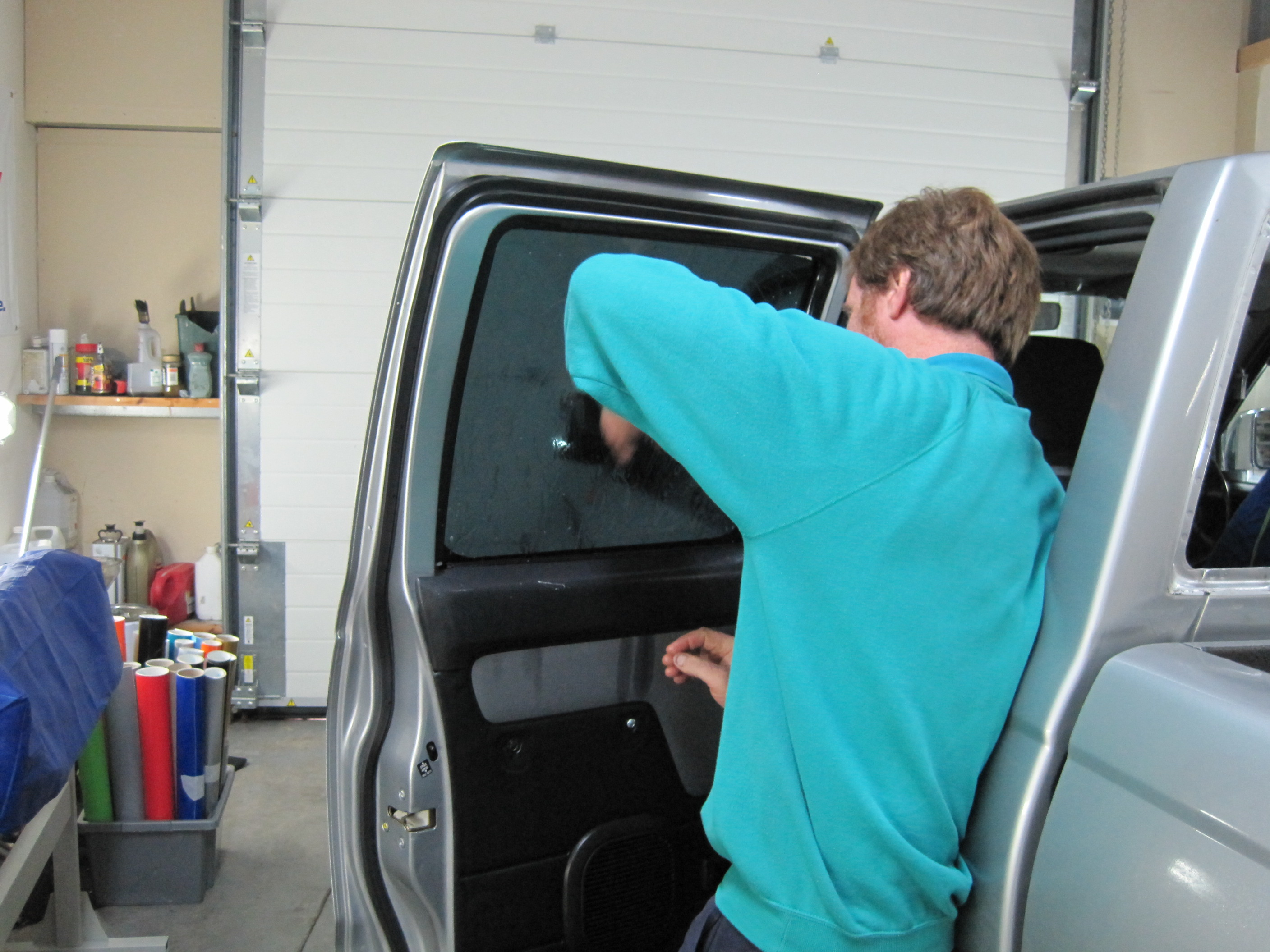 Fitting window tints to pickup