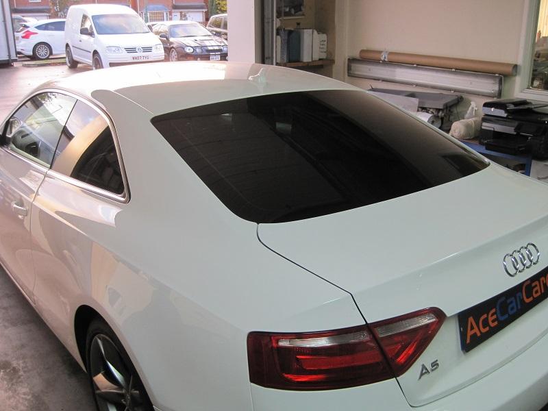 White Audi Window Tinting Shrewsbury