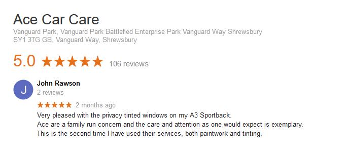 Audi Window Tint Review