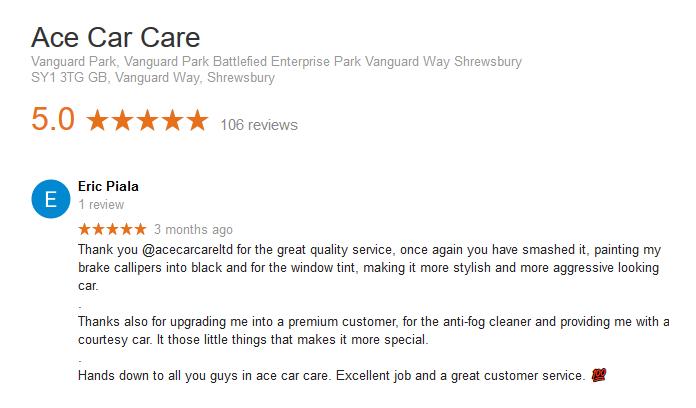 Car Tinting Shrewsbury Review