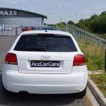 White Audi Window Tint Examples