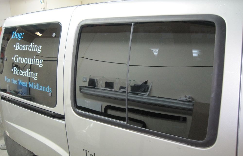 Van Window Tinting Examples Shropshire