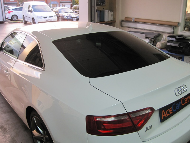 White Audi Window Tinting Shrewsbury