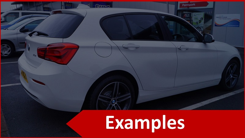 Car Window Tint Examples
