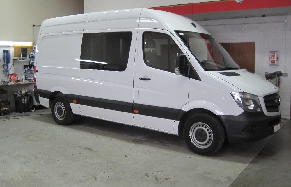 Large Van Window Tinting Examples