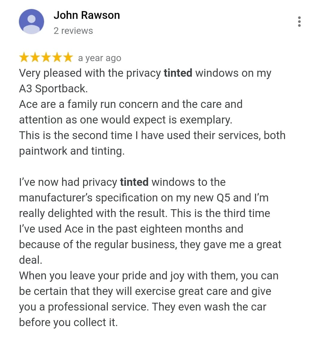 John Rawson Window Tinting Increased Safety Review